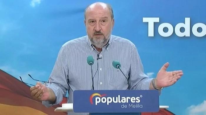 Imagen de rueda de prensa del PP