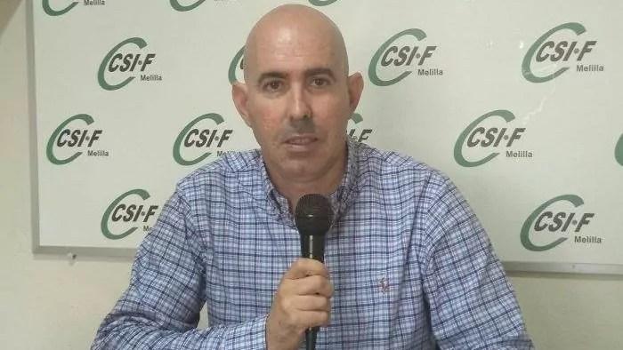Sergio Ramírez, representante de CSIF Educación Melilla