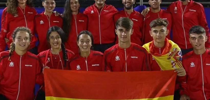 Selecciones EspañolasAbsoluta y Sub-18 de tenis playa
