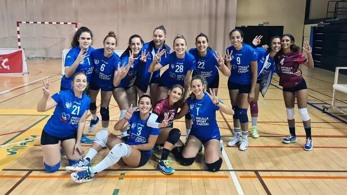 El Club Voleibol Melilla venció al Collado Villalba por 1-3