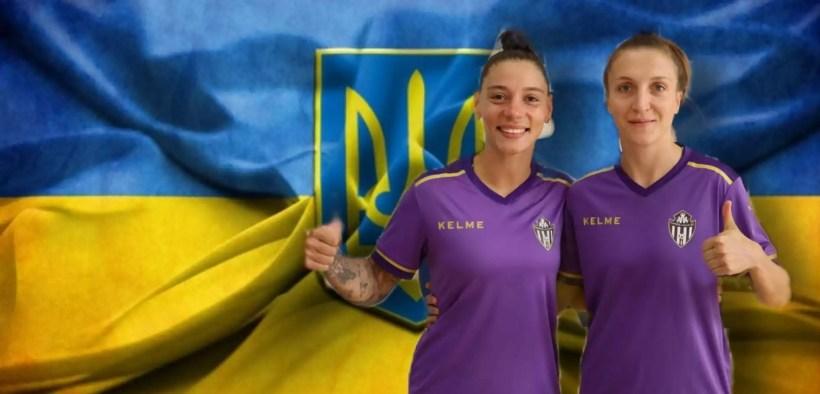 Anna y Vika, jugadoras del MSCTorreblanca