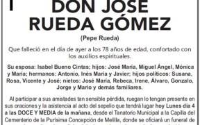 Esquela- DON JOSE RUEDA GOMEZ (Pepe Rueda)