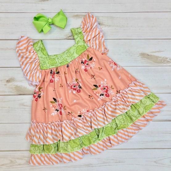 Melina & Me - Sweet Peach Dress (Back)