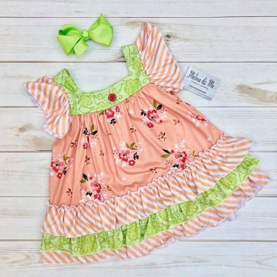 Melina & Me - Sweet Peach Dress (Front)