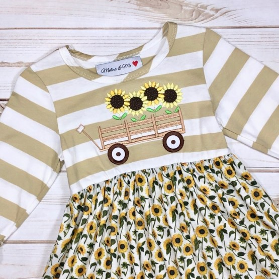 Melina & Me - Sunflower Field Dress (Front)