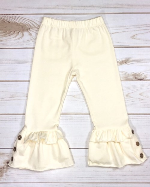 Melina & Me - Bellbottom Ruffle Pants (Ivory)