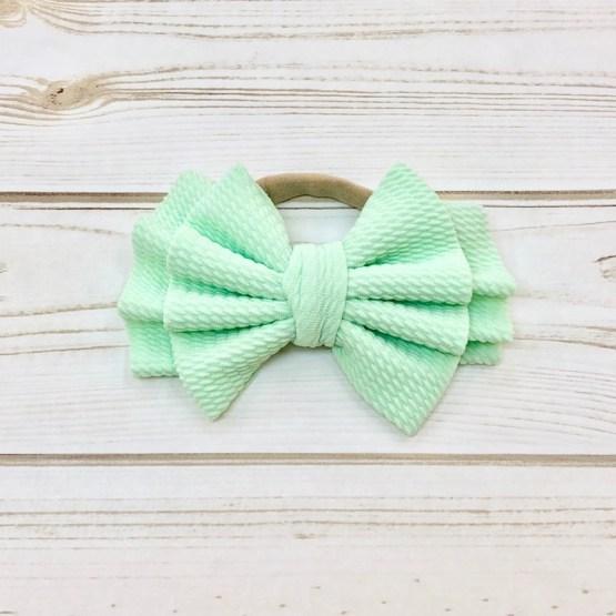 Melina & Me - Bow w: Headband (Mint Green)