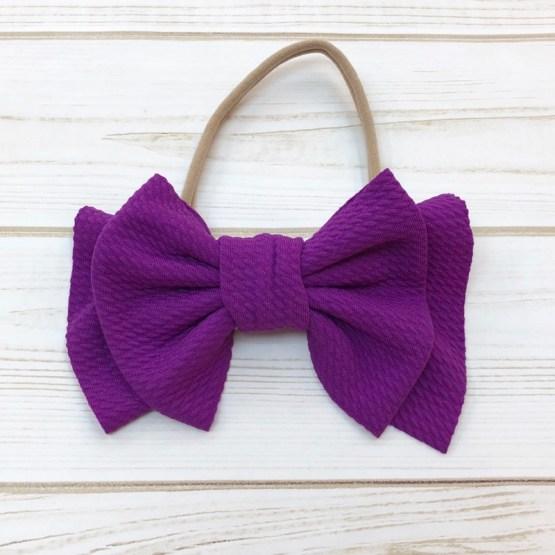 Melina & Me - Bow w: Headband (Purple)