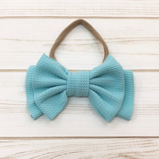 Melina & Me - Bow w: Headband (Turquoise)