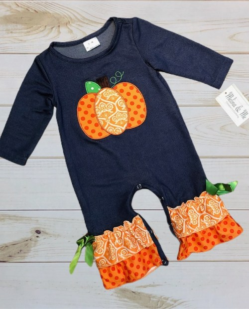 Melina & Me - Pretty Little Pumpkin Romper