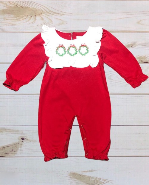 Melina & Me - Christmas Wreath Romper