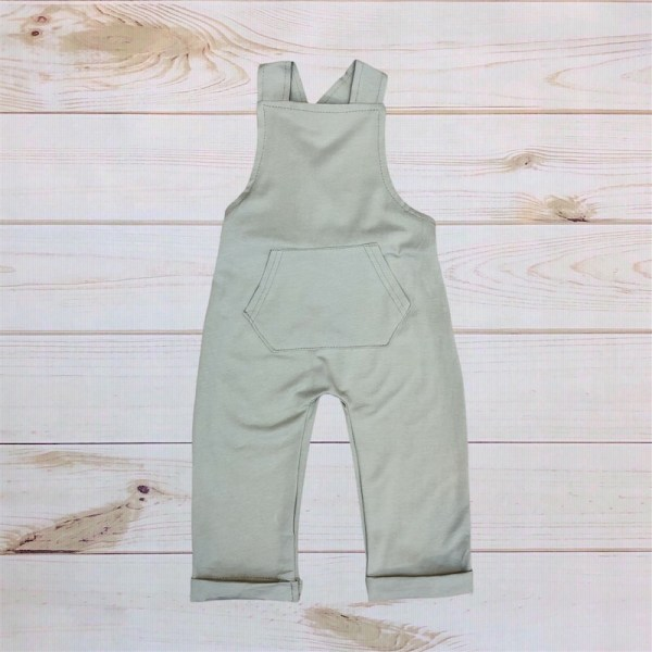 Olive Green Cotton Overalls