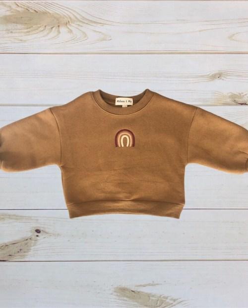 Melina & Me - Rainbow Plush Sweater (Cinnamon)