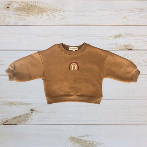 Rainbow Plush Sweatshirt (Cinnamon)