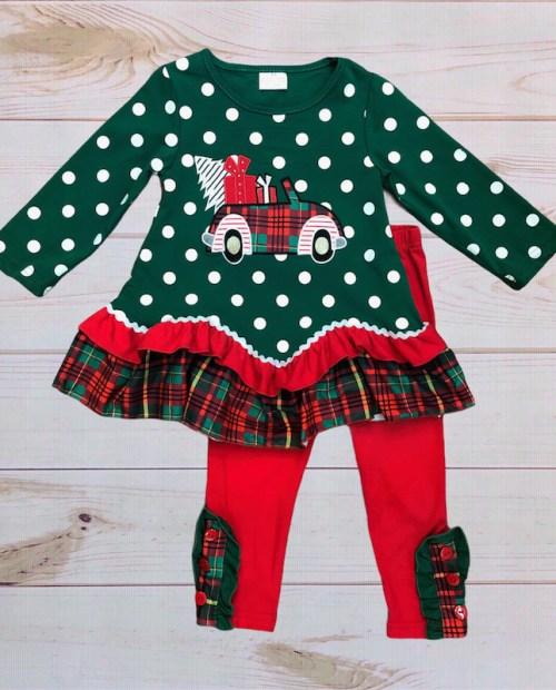Melina & Me - Christmas Car Outfit