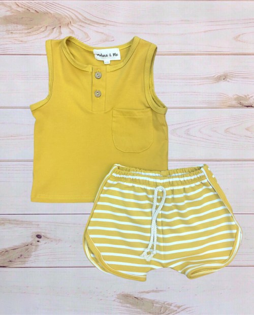 Melina & Me - Cotton Short Outfit (Mustard)