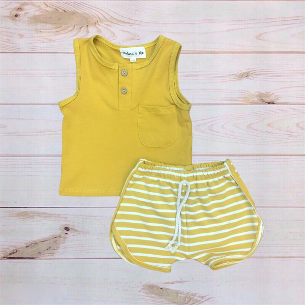 Cotton Short Outfit (Mustard)
