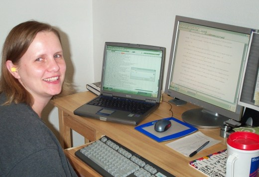 Circa 2005. I look so sexy with my earplugs and no makeup!