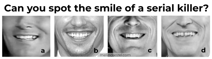 serial killer smiles - Ted Bundy - Rodney Alcala - compared to James Franco and Willem Dafoe
