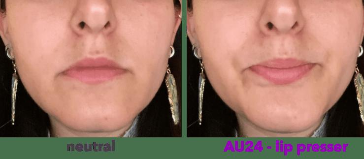 AU24 - presionador de labios - orbicularis oris