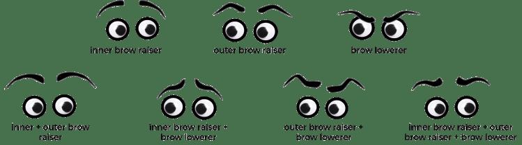 stylized eyebrows