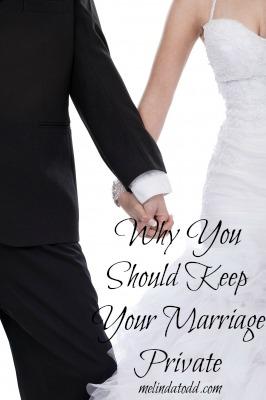 keep marriage private melinda todd