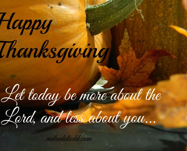 thanksgiving about lord