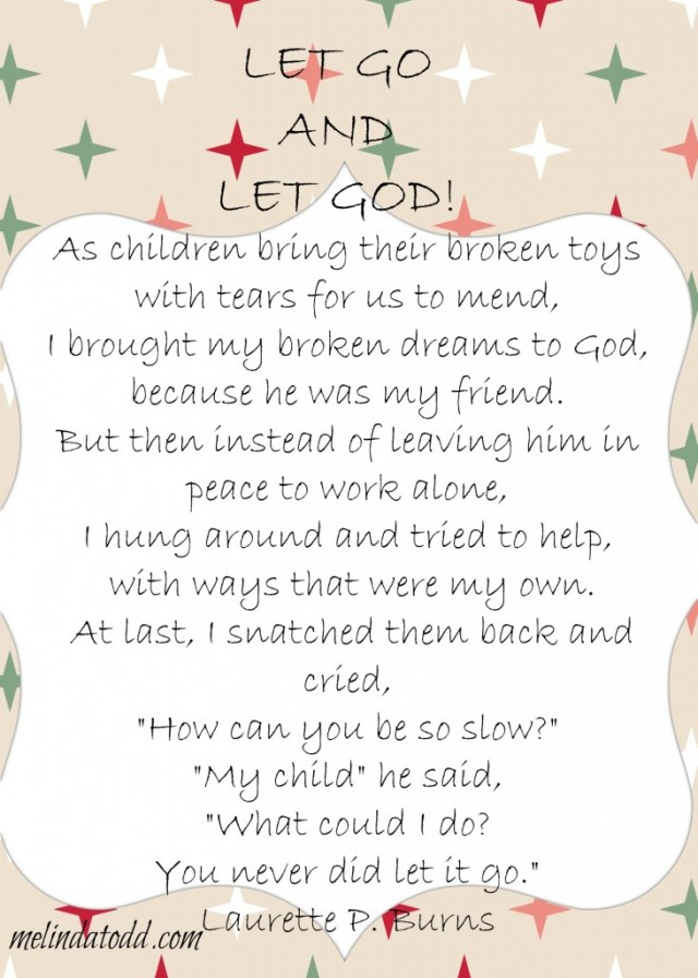 let go and let god poem melindatodd