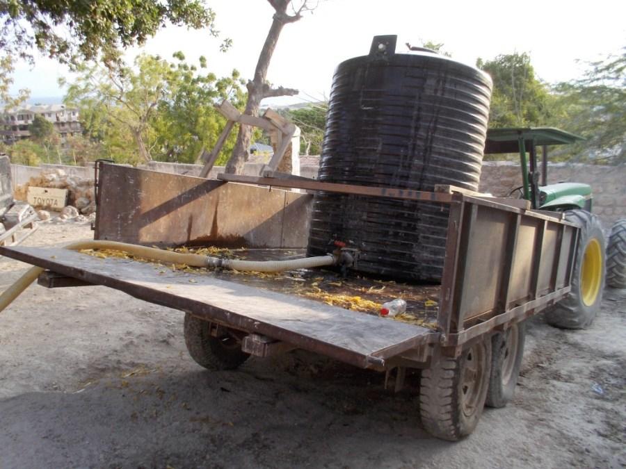 water tank haiti
