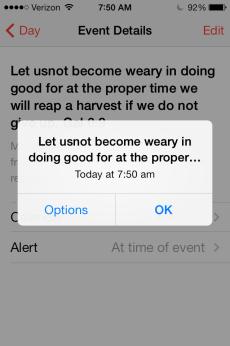 alarm phone memorize scripture