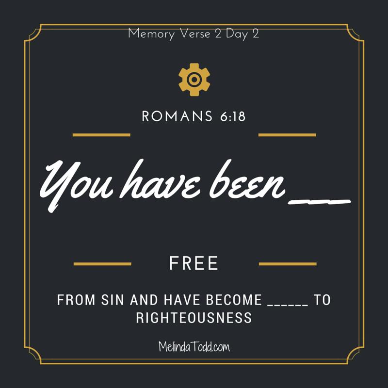 Romans 6_18 memory verse