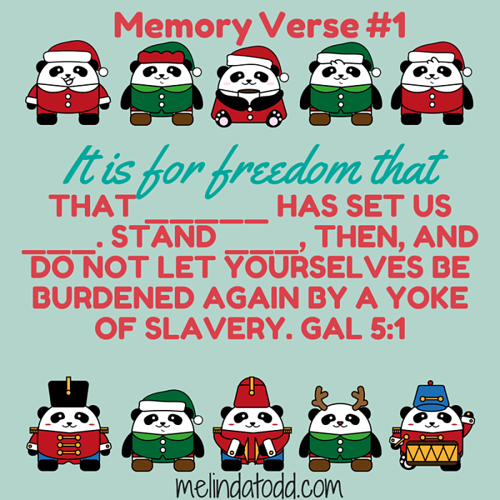 Galatians 5:1 Memory Verse