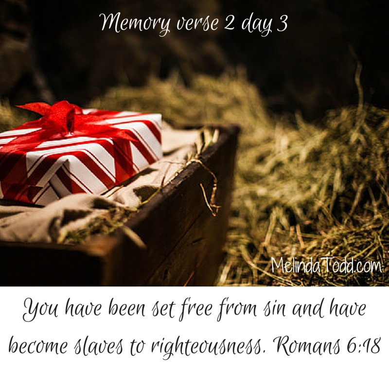 Romans 6:18 memory verse