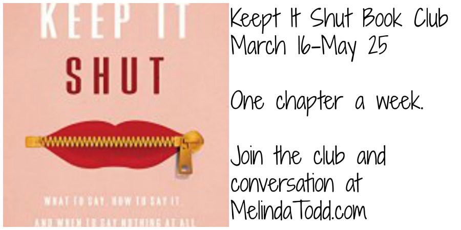 Keep It Shut Book Club at MelindaTodd.com