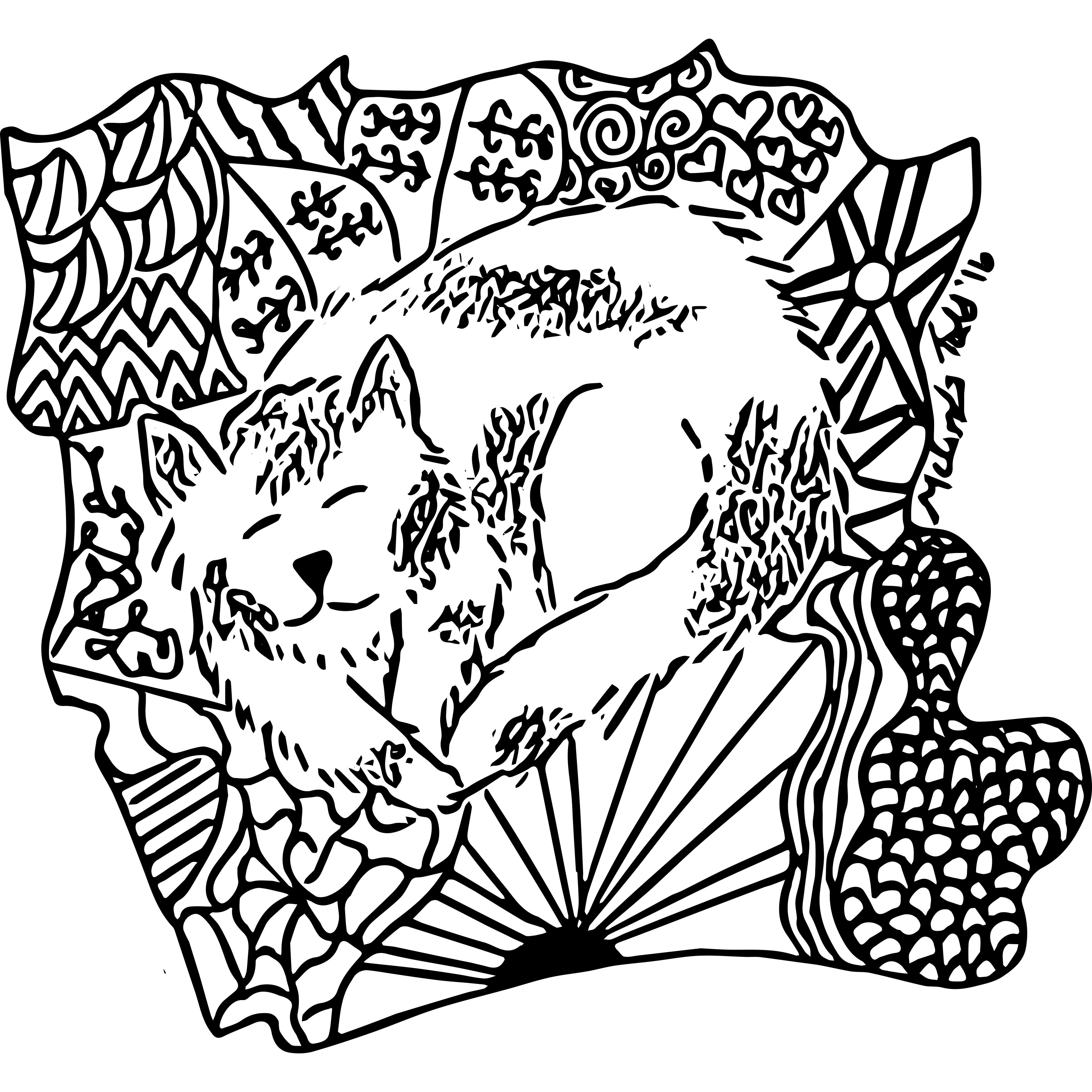 kitten coloring page mel u0027s doodle designs