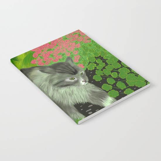 Cat In The Garden Journal
