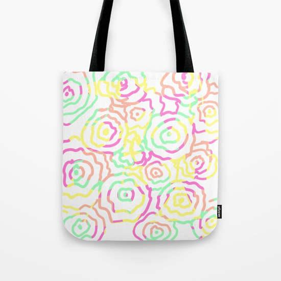 Floral Summer Beachy Tote Bag