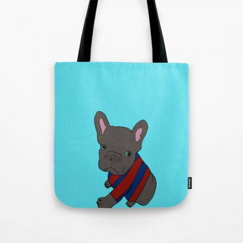 French Bull Dog Puppy Tote Bag by Melinda Todd