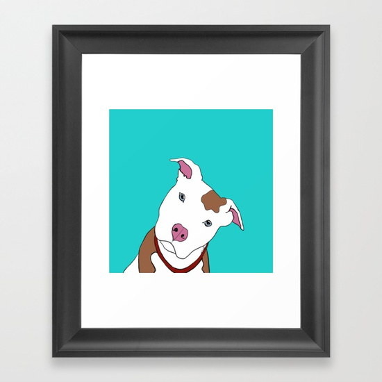 pit bull framed prints