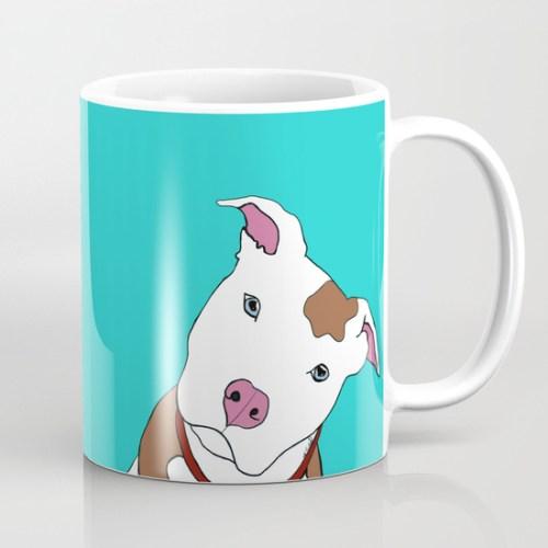 Pit Bull Coffee Mug by Melinda Todd