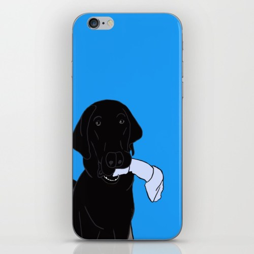Black Lab With A Bone Phone Case