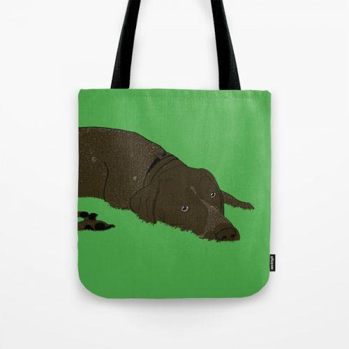 Gunner the German shorthaired pointer tote bag
