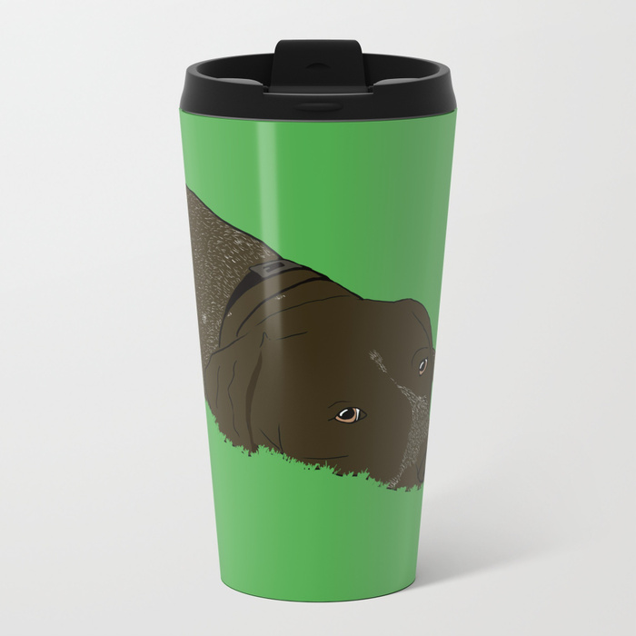 Gunner the German Shorthaired Pointer Metal Travel Mug