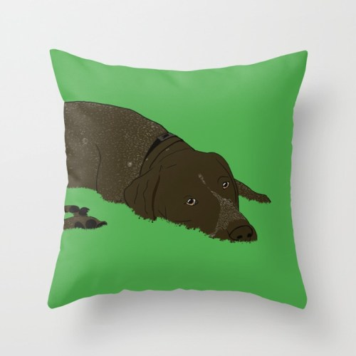 Gunner the German Shorthaired Pointer Throw Pillow