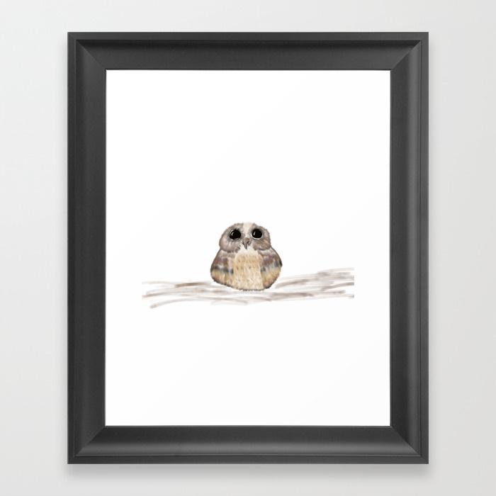 Sweet Owl Framed Print