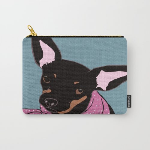 Sweet Chihuahua Carry All Pouch/Make-up bag