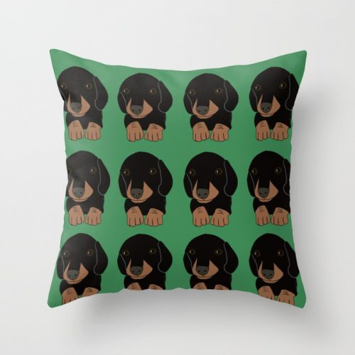 Dachshund Puppies Throw PillowDachshund Puppies Throw Pillow