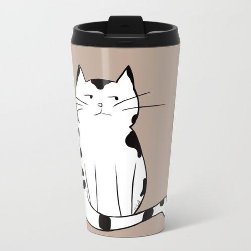 Java The Coffee Cat Travel Mug
