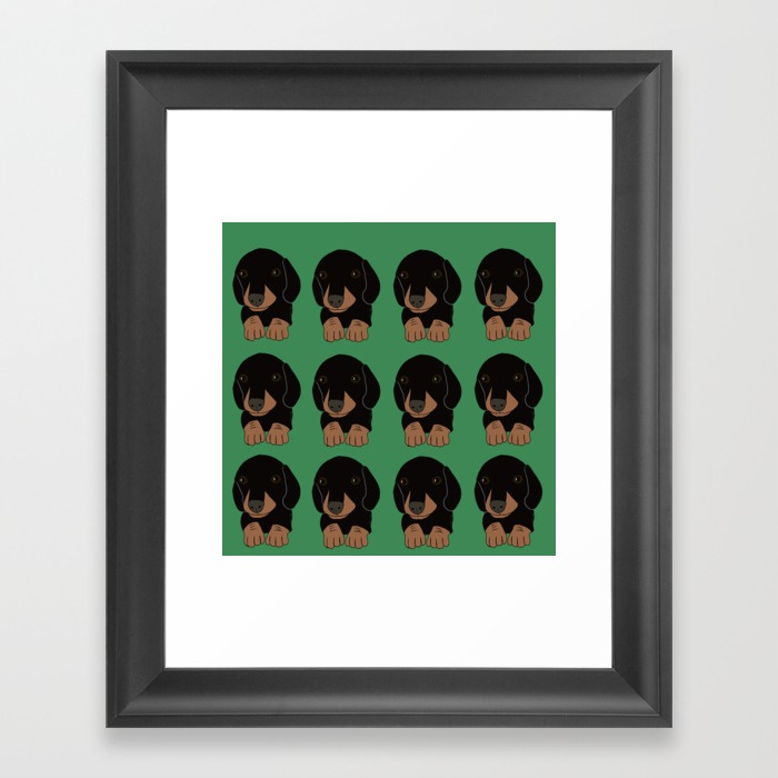 Dachshund Puppies Galore Framed Print by Melinda Todd