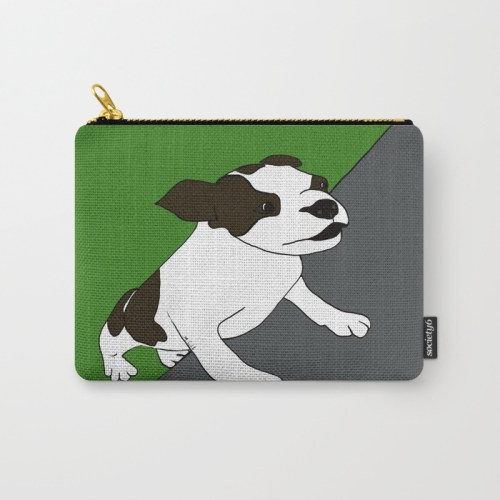 Annie The Boston Terrier Carry All Pouch
